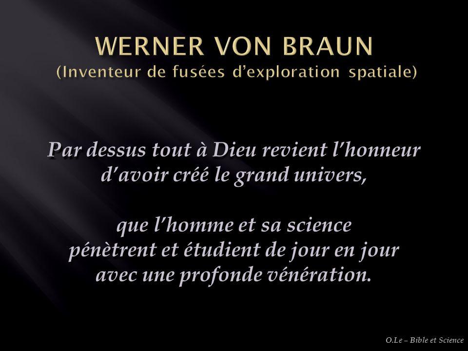 WERNER VON BRAUN (Inventeur de fusées d'exploration spatiale)