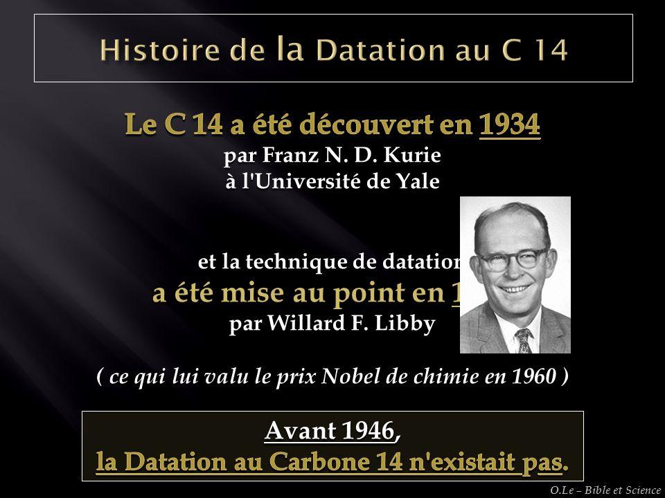 Histoire de la Datation au C 14