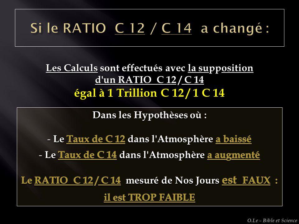 Si le RATIO C 12 / C 14 a changé :