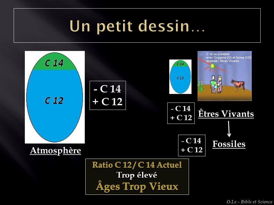 Un petit dessin… - C 14 + C 12 Âges Trop Vieux Êtres Vivants Fossiles