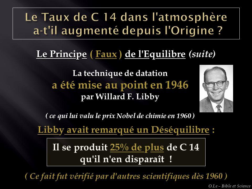 Le Taux de C 14 dans l atmosphère a-t il augmenté depuis l Origine