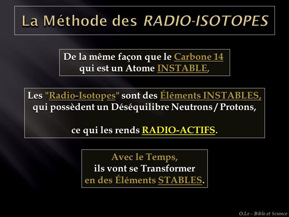 La Méthode des RADIO-ISOTOPES