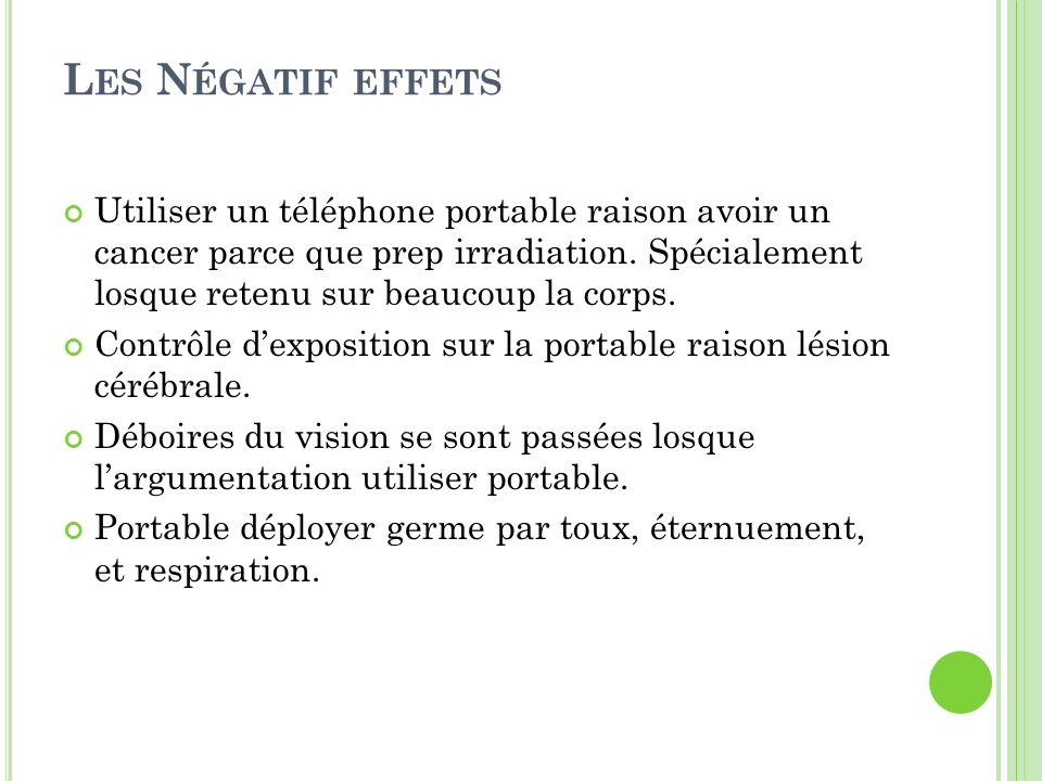 Les Négatif effets