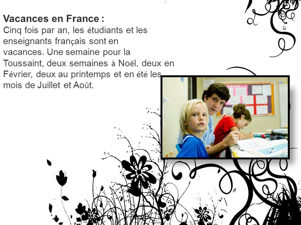 Vacances en France :