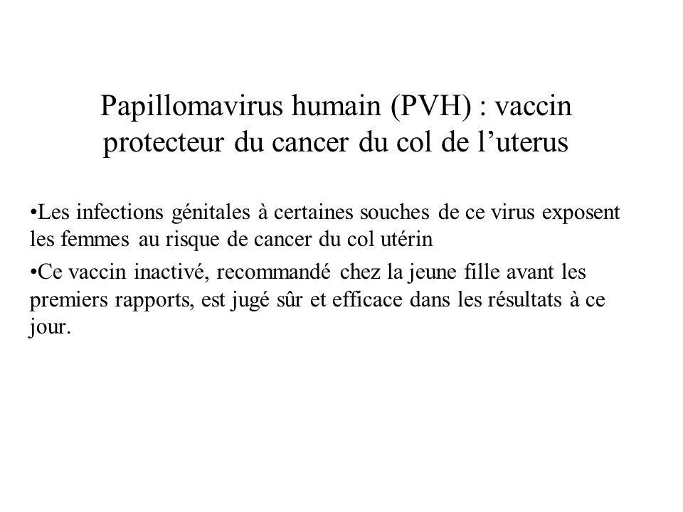 Papillomavirus humain (PVH) : vaccin protecteur du cancer du col de l'uterus