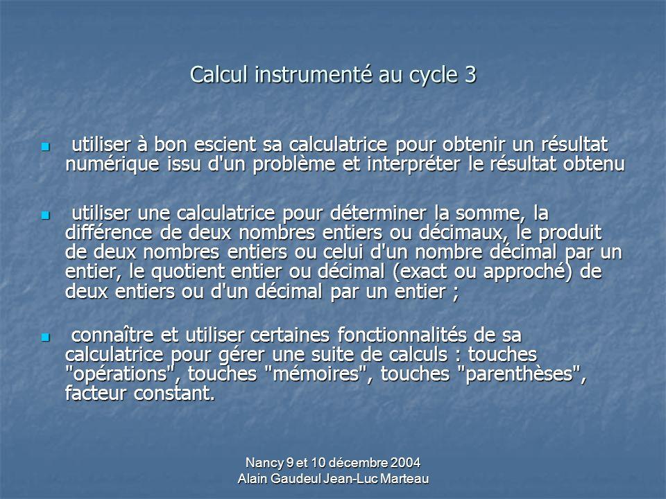 Calcul instrumenté au cycle 3