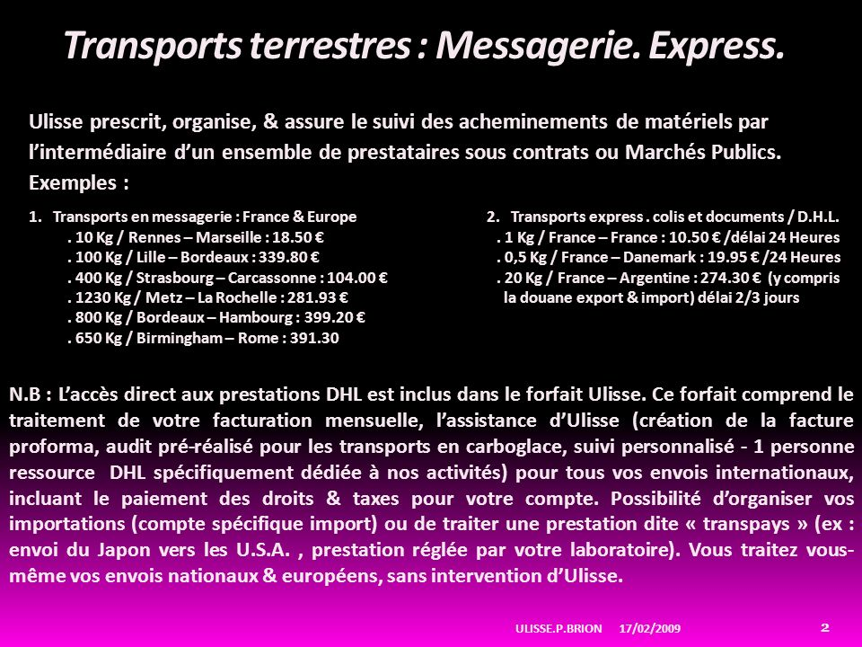 Transports terrestres : Messagerie. Express.