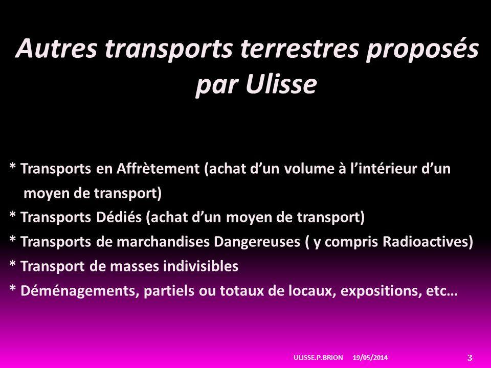 Autres transports terrestres proposés par Ulisse