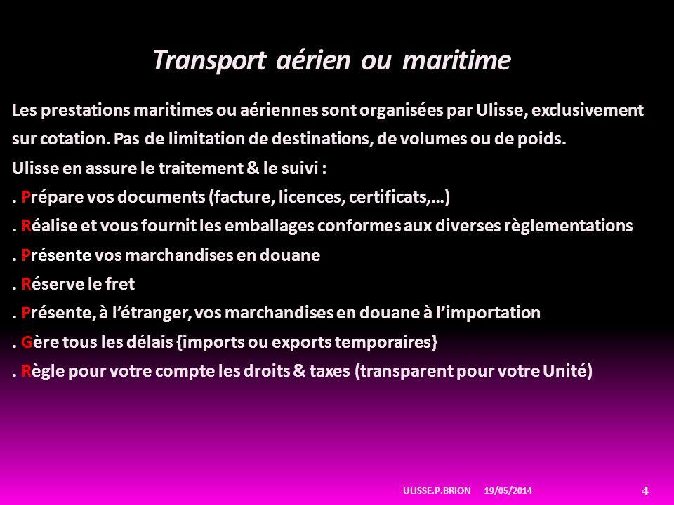 Transport aérien ou maritime