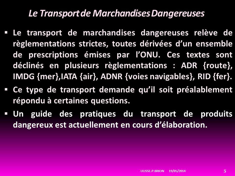 Le Transport de Marchandises Dangereuses