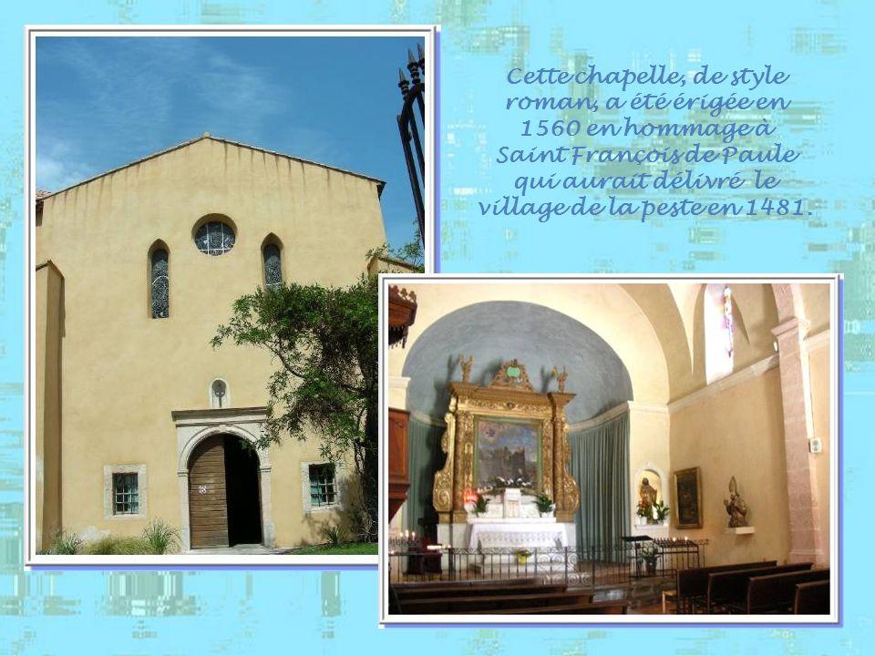 Cette chapelle, de style roman, a été érigée en 1560 en hommage à
