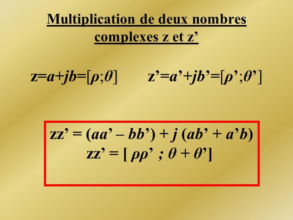 Multiplication de deux nombres complexes z et z'