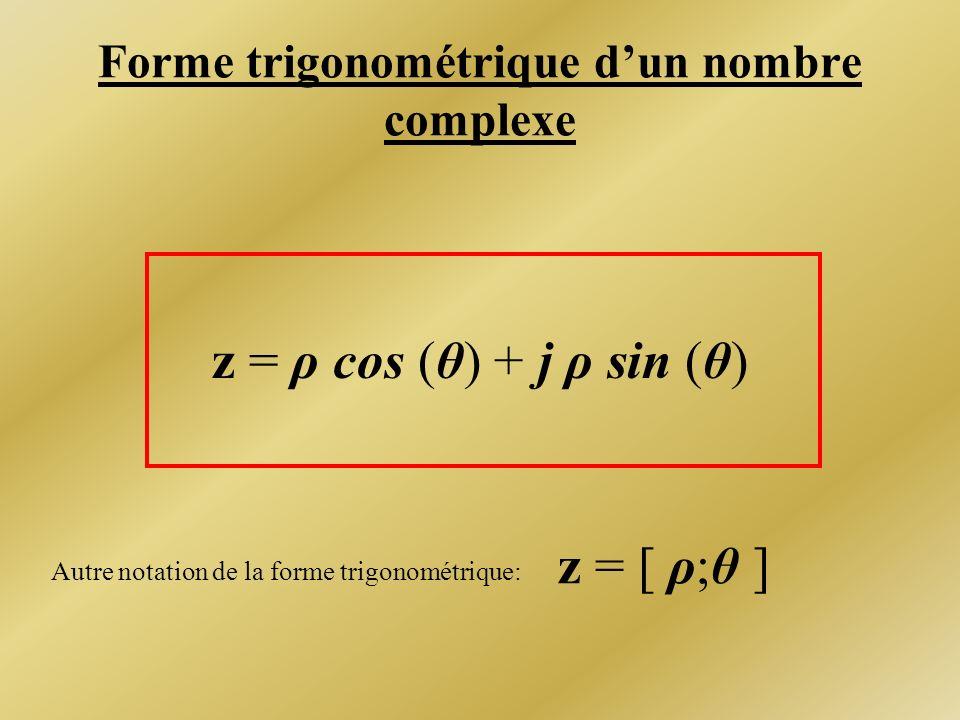 Forme trigonométrique d'un nombre complexe
