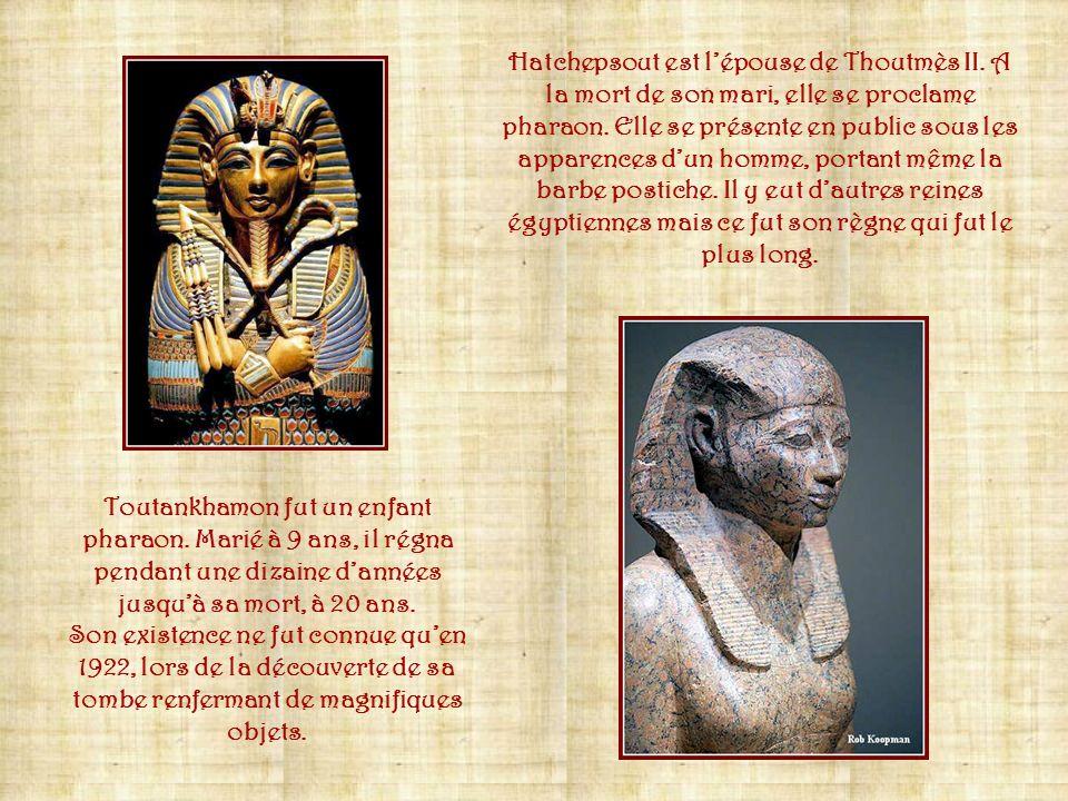 Hatchepsout est l'épouse de Thoutmès II