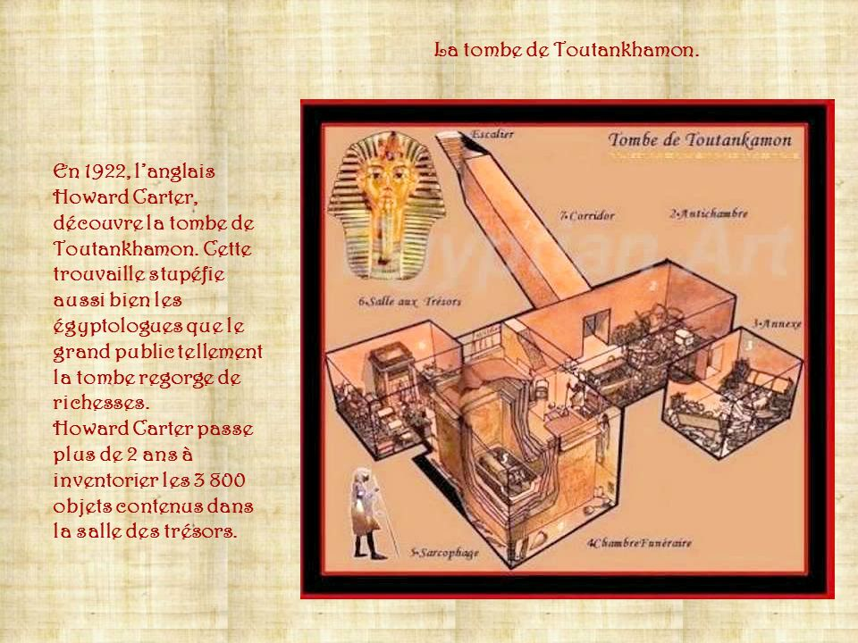 La tombe de Toutankhamon.