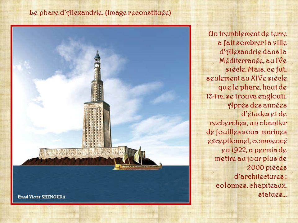 Le phare d'Alexandrie. (Image reconstituée)