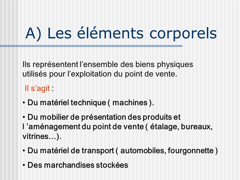 A) Les éléments corporels
