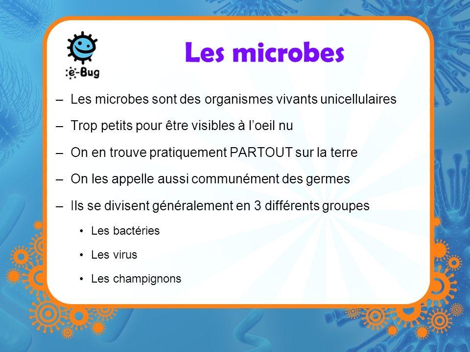 Les microbes Les microbes sont des organismes vivants unicellulaires