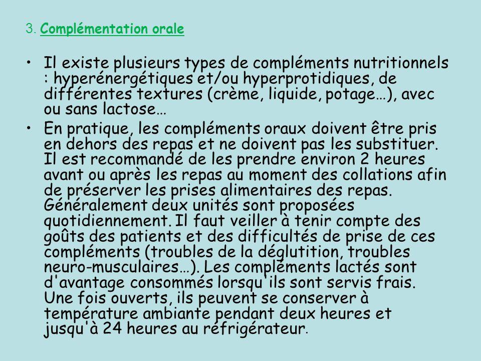 3. Complémentation orale