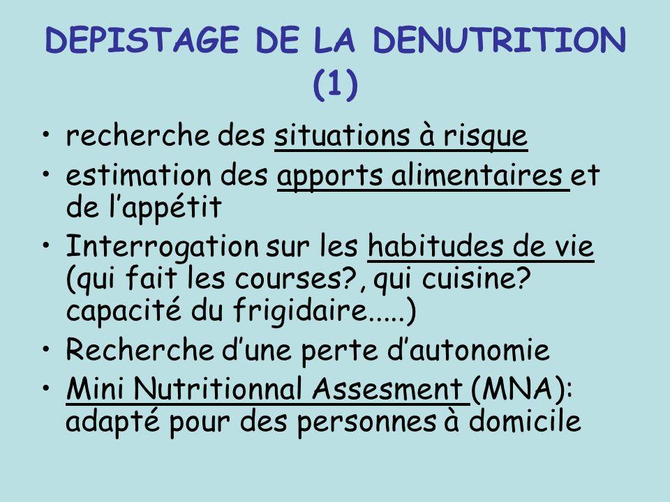 DEPISTAGE DE LA DENUTRITION (1)