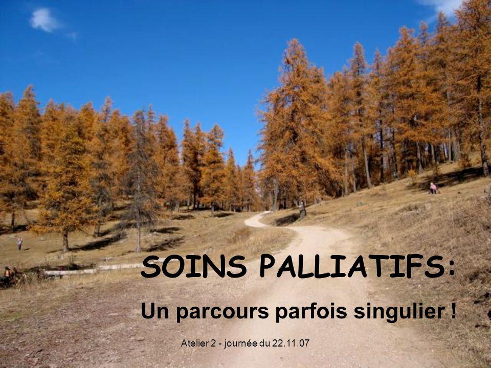SOINS PALLIATIFS: Un parcours parfois singulier !