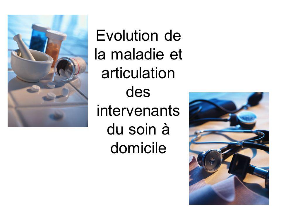 Evolution de la maladie et articulation des intervenants du soin à domicile