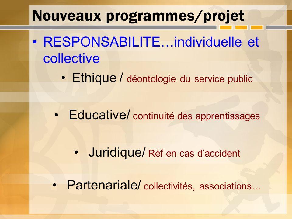 Nouveaux programmes/projet