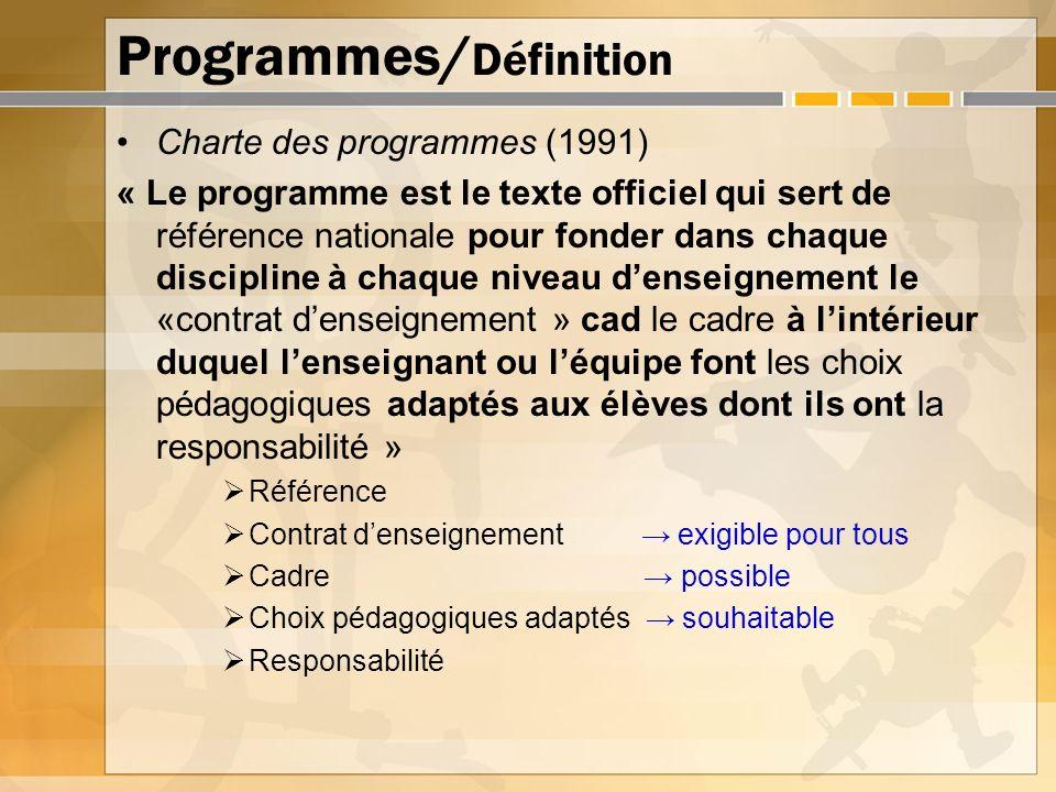 Programmes/Définition