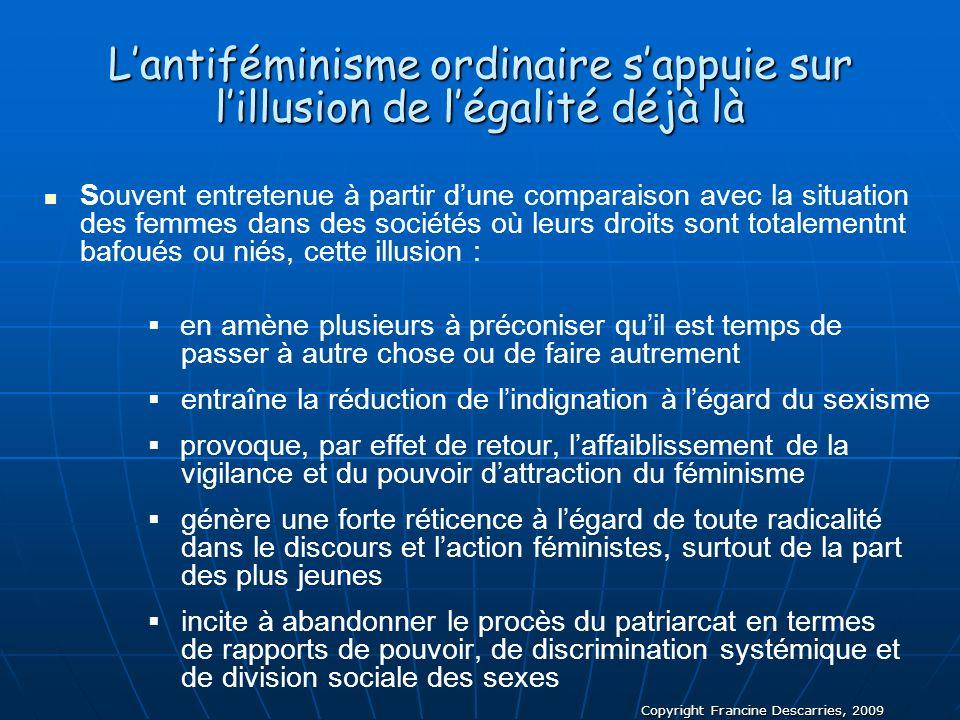 L'antiféminisme ordinaire s'appuie sur l'illusion de l'égalité déjà là