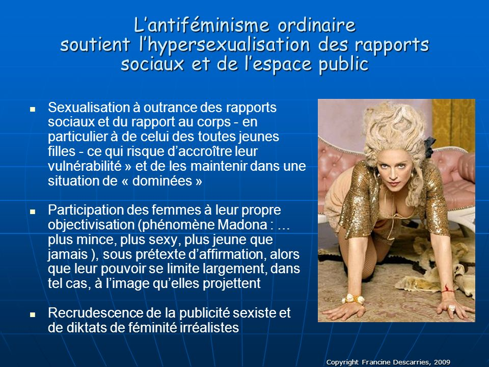 L'antiféminisme ordinaire soutient l'hypersexualisation des rapports sociaux et de l'espace public