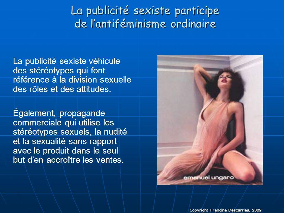 La publicité sexiste participe de l'antiféminisme ordinaire