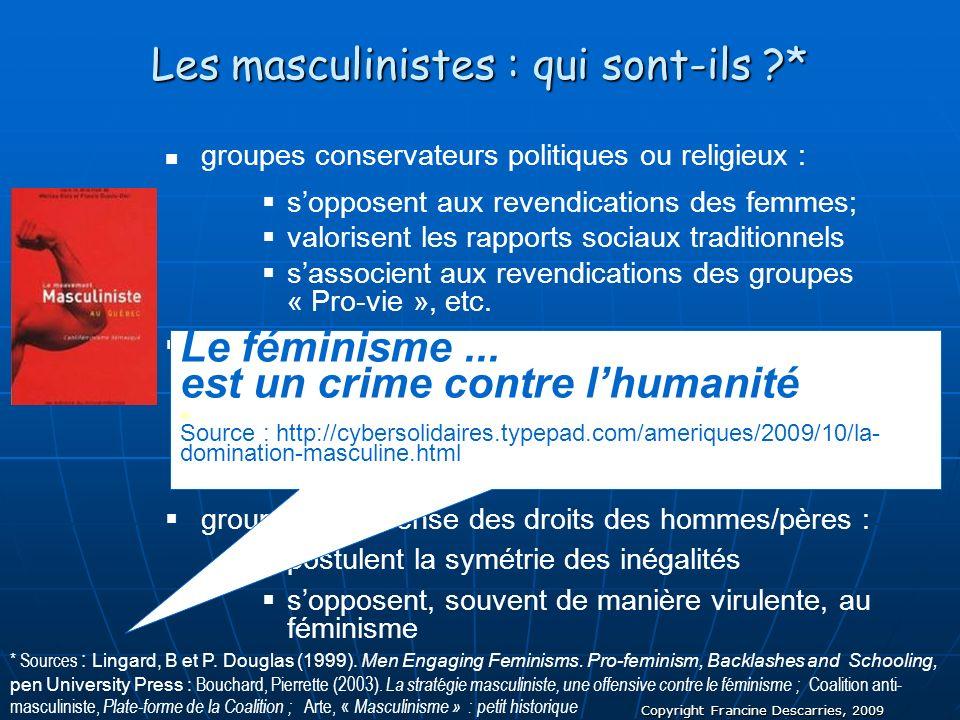 Les masculinistes : qui sont-ils *