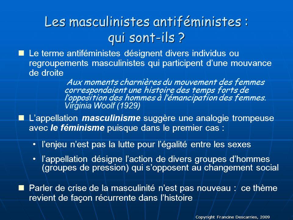 Les masculinistes antiféministes : qui sont-ils