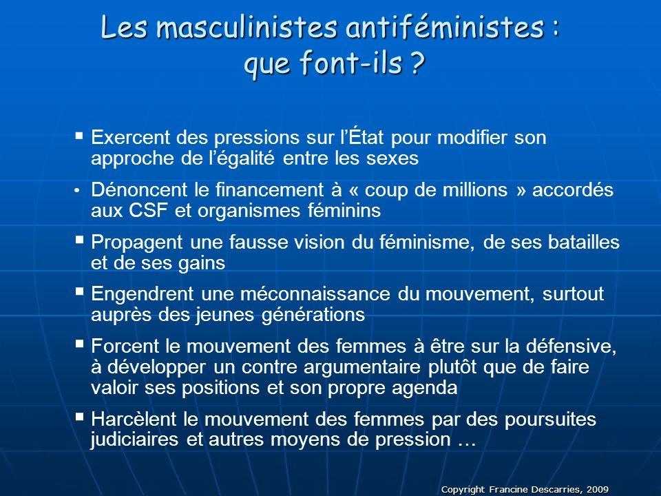 Les masculinistes antiféministes : que font-ils