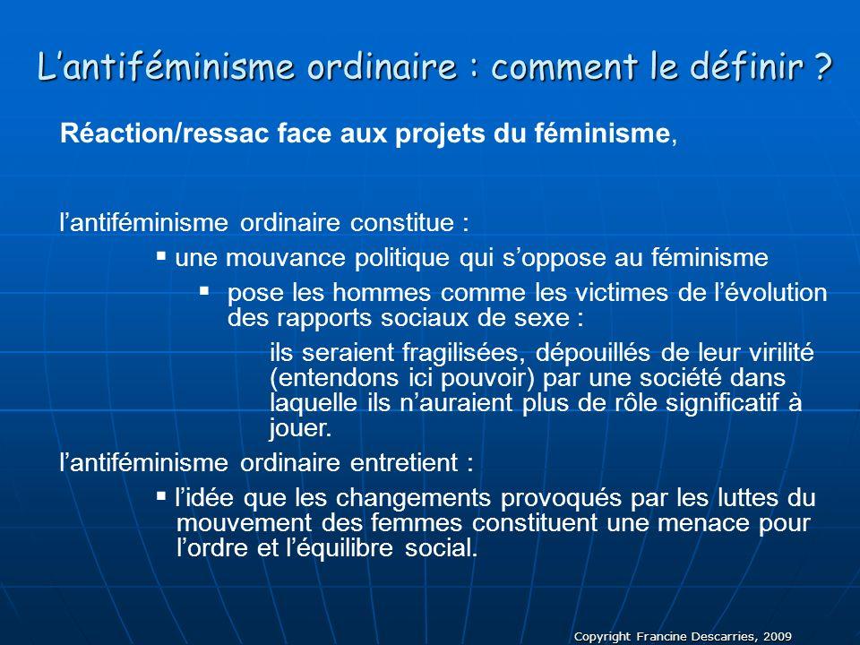 L'antiféminisme ordinaire : comment le définir