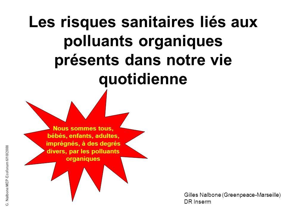 Les risques sanitaires liés aux polluants organiques présents dans notre vie quotidienne