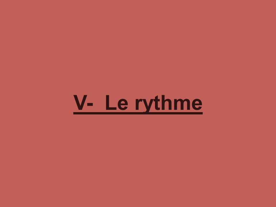 V- Le rythme