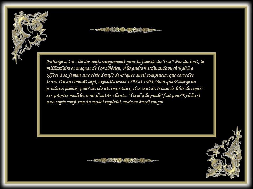 Fabergé a-t-il créé des œufs uniquement pour la famille du Tsar