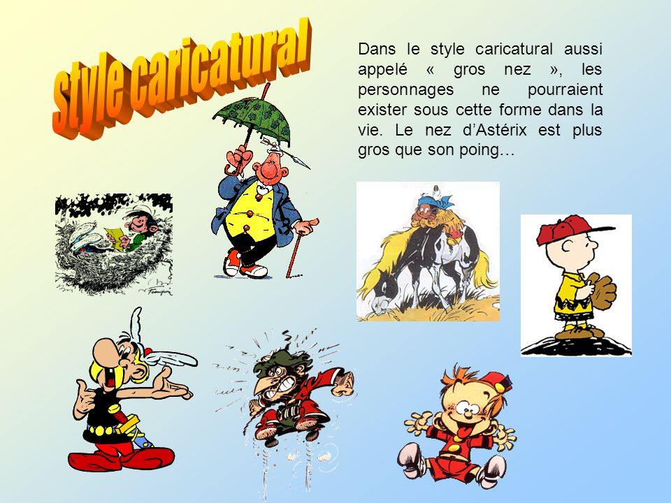 style caricatural