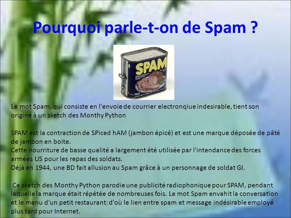 Pourquoi parle-t-on de Spam