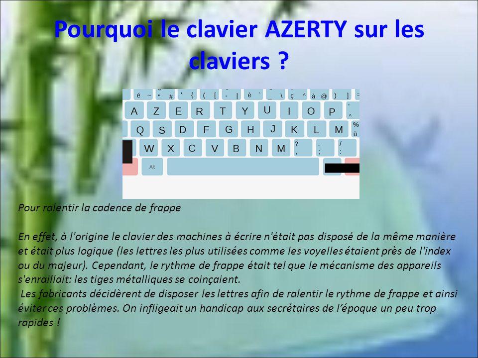 Pourquoi le clavier AZERTY sur les claviers