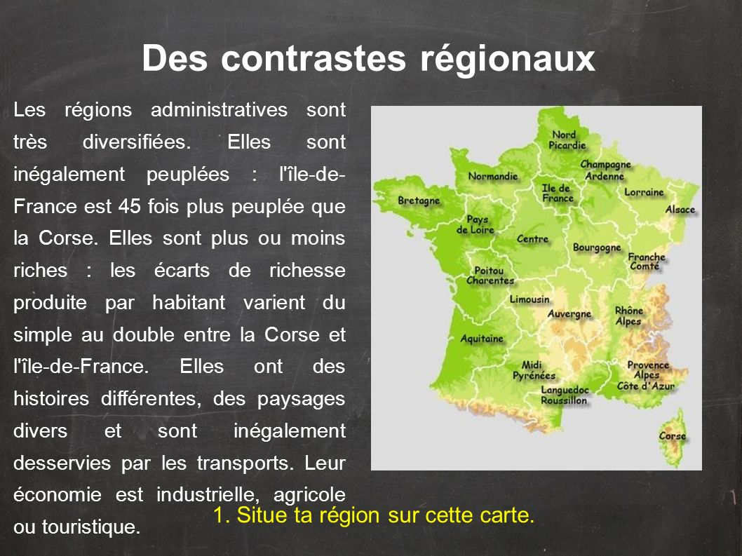 Des contrastes régionaux