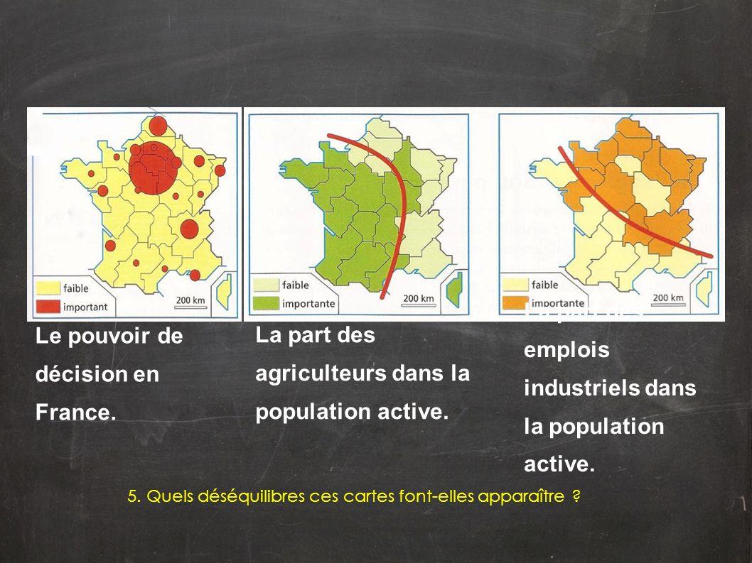 Le pouvoir de décision en France.
