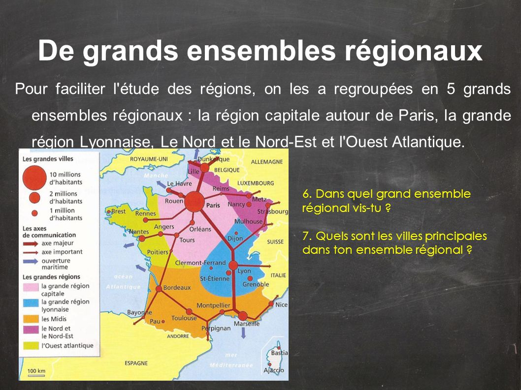 De grands ensembles régionaux