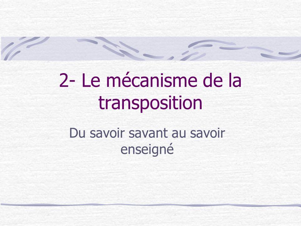 2- Le mécanisme de la transposition
