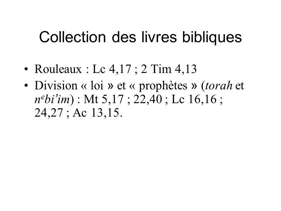 Collection des livres bibliques