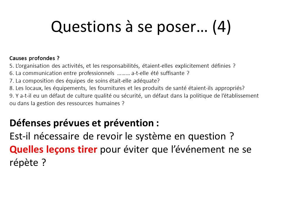 Questions à se poser… (4)