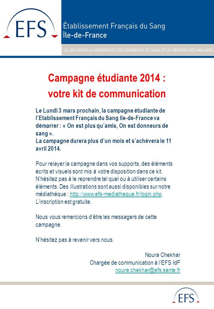 Campagne étudiante 2014 : votre kit de communication