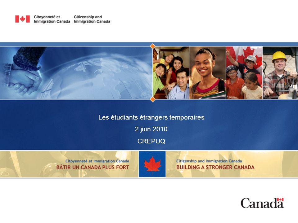 Les étudiants étrangers temporaires
