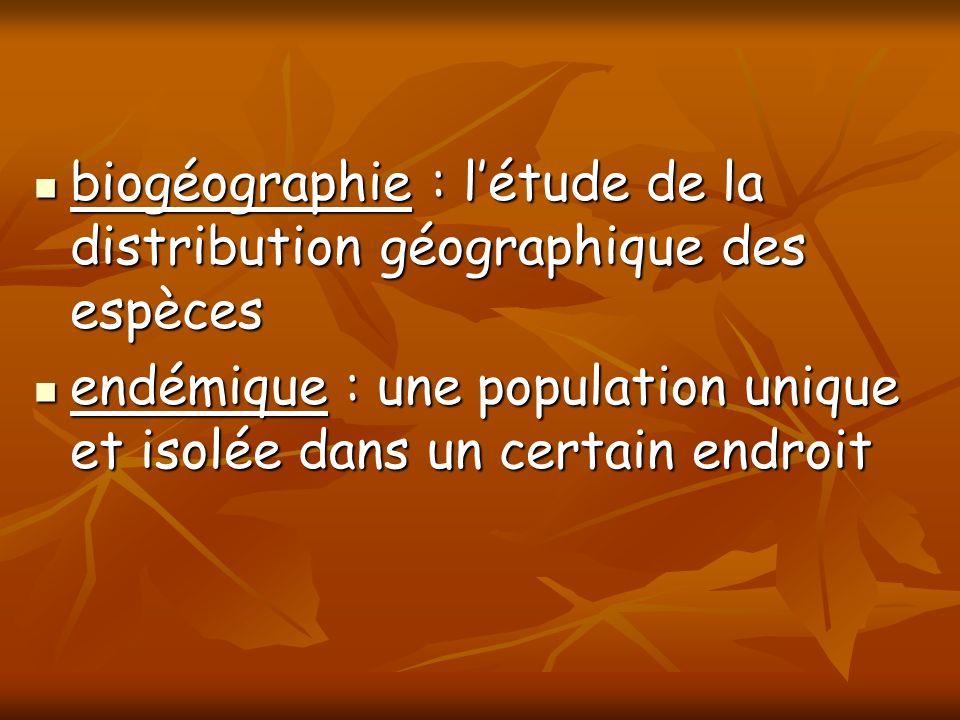 biogéographie : l'étude de la distribution géographique des espèces
